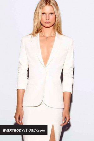 white Elizabeth  James blazer