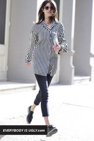 black pajama Chloe shirt