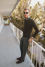 Alfani-shoes-h-m-sweater-j-crew-shirt-ray-ban-sunglasses-topman-pants