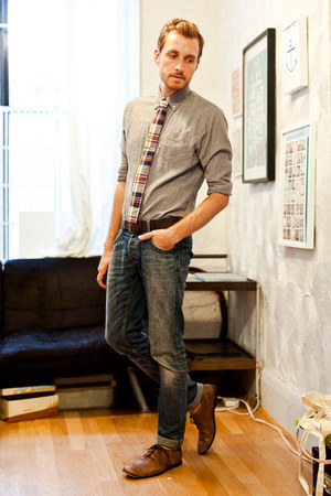 J Crew tie - Bed Stu shoes - H&M jeans - Club Monaco shirt