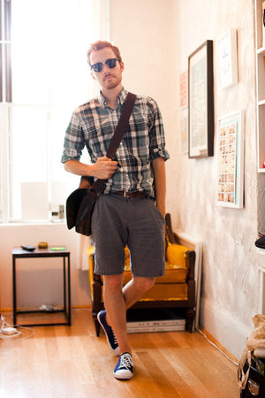 asos shoes - J Crew shirt - 8th Line bag - Standard Cloth shorts - clubmaster Ra