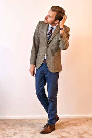 stafford ashton JCPenney shoes - H&M blazer - H&M shirt - H&M tie - Topman pants