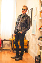 faux leather Charles and a Half jacket - faux leather Novacas boots
