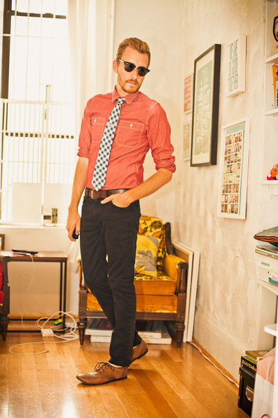 stantorian Bed Stu shoes - chambray J Crew shirt - clubmaster Ray Ban sunglasses