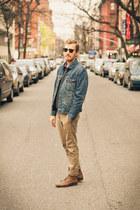 Topman boots - Levis jacket - alternative apparel sweater - H&M shirt - Ray Ban