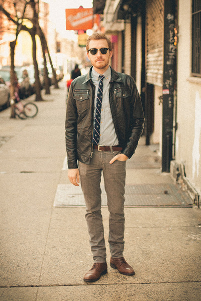 Topman boots - Converse jeans - Charles and a Half jacket - J Crew shirt - Ray B