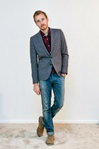 H&M blazer - Bed Stu boots - H&M jeans - Club Monaco shirt