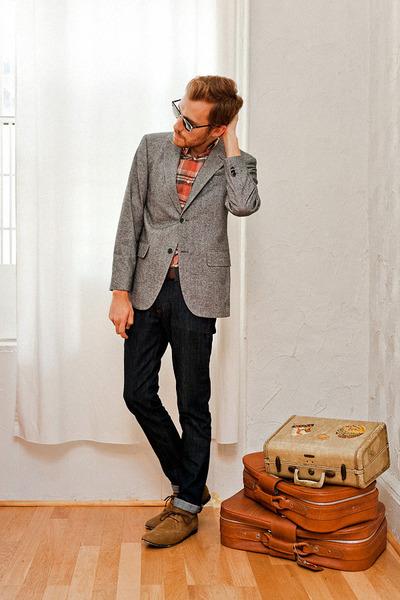 banana republic blazer - Bed Stu boots - Doctrine Denim jeans - JCrew shirt