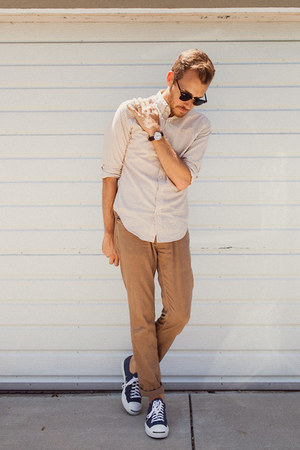 jack purcell coverse shoes - Club Monaco shirt - Ray Ban sunglasses