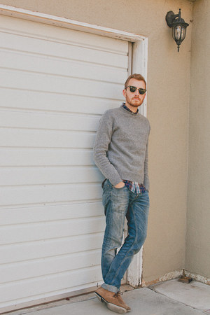 J Crew sweater - Bed Stu boots - H&M jeans - Club Monaco shirt