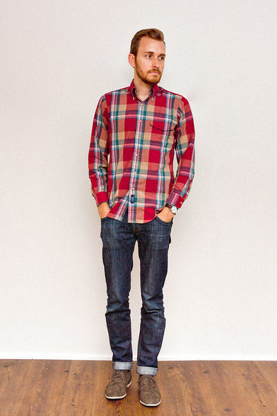 Gant shirt - forever 21 men shoes - Doctrine Denim jeans - timex watch