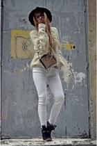 Zara jeans - Mango hat - Zara hat - Zara sneakers - H&M jumper
