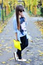 Sky-blue-stradivarius-shirt-black-atmosphere-tights-yellow-bershka-bag