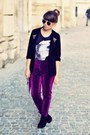 H-m-sunglasses-cream-new-look-t-shirt-magenta-h-m-pants