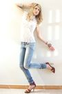 White-balmain-blouse-beige-zara-accessories-brown-tendency-shoes