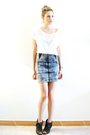 White-pull-and-bear-blouse-gray-zara-skirt-brown-very-vintage-gold-christi