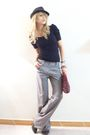 Silver-diveco-pants-black-coach-hat-black-steve-madden-shoes-red-zara-acce