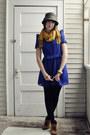 Tawny-suede-booties-amazon-boots-blue-chiffon-tela-dress