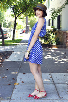 kitty cat print Tela dress - Urban Outfitters hat