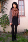 Bdg-boots-f21-cardigan-american-apparel-skirt-uo-scarf-target-tights
