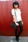 Vintage-top-vintage-shorts-liz-claiborne-accessories-deena-ozzy-shoes