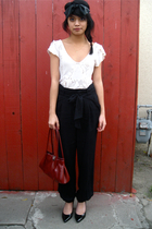 UO blouse - Prada Bag accessories - f21 pants - Cathy Jean shoes - F21 headband