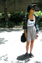 vintage blouse - brandy melville top - vintage skirt - UO shoes - uo bag accesso