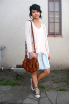 annex cardigan - f21 top - H&M Bag accessories - Converse shoes - Urban Renewal