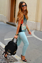 Zara top - Ray Ban glasses - Christian Louboutin sandals