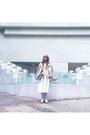 Light-pink-zara-jacket-white-bershka-skirt-bubble-gum-forever-21-vest