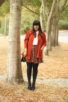 tawny vintage skirt - carrot orange vintage jacket