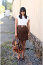 Ivory-handmade-bag-maroon-vintage-flats-off-white-vintage-blouse