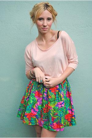 turquoise blue vintage skirt