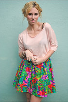 Turquoise-blue-vintage-skirt