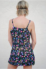 Black Mini Sun Dress Vintage Dresses