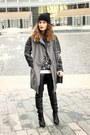 Black-h-m-boots-gray-leather-asos-coat-black-mango-shirt