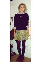 jack wills shirt - Secondhand sweater - Zara skirt - Absolute Vintage shoes