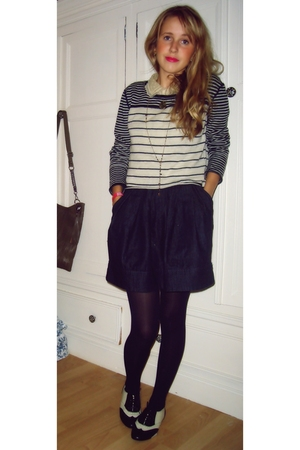 Topshop blouse - Urban Outfitters top - warehouse skirt - new look shoes