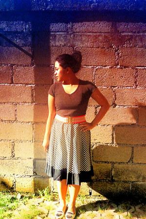 chiffon moms skirt skirt - flatshoes peter kezia shoes - rusty belt belt