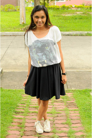 white unknown blouse - black CoKayne Clothing skirt