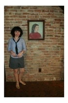 steven alan shirt - Vintage from Buffalo tie - Sonia Rykiel shorts - Chie Mihara