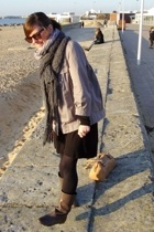 Comptoir des Cotonniers jacket - Soft Grey dress - Comptoir des Cotonniers boots