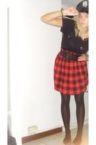 H&M t-shirt - Zara dress - H&M belt