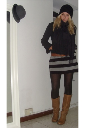 Drykorn for beautiful people jacket - H&M dress - Marc Jacobs shoes - H&M hat