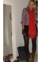 shirt - Zara skirt - scarf - gloves