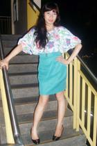 top - skirt - elle shoes