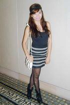 black top - black random from Hongkong skirt - black Korean shoes - white vintag