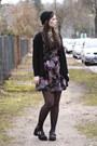 Maroon-primark-dress-black-h-m-hat-black-primark-sandals