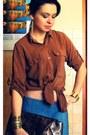 Brown-no-name-shirt-blue-jeans-h-m-leggings-dark-brown-atmosphere-bag