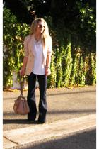 J Brand jeans - DKNY t-shirt - Kasper for ASL -vintage blazer